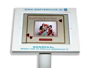 Videozuil voor gastenboek huren