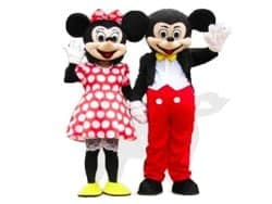Mickey & Minnie Mouse mascotte huren
