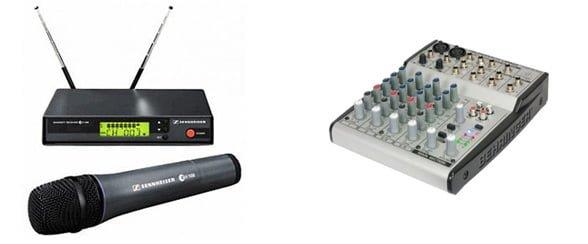 Draadloze Sennheiser Microfoon huren voor presentatie of evenement