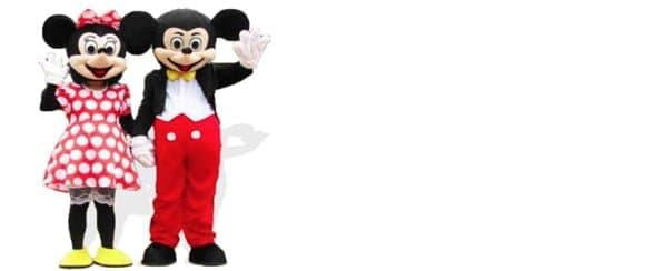 Mickey Mouse Of Minnie Mouse Huren Kostuum Mascotte Voor Verjaardag