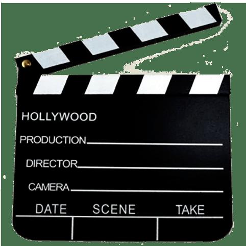 Filmklapper erg leuk samen Polaroid camera of videozuil