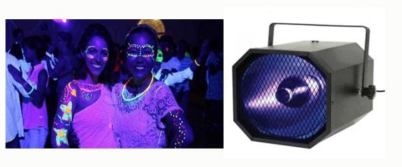 Discolampen - disco verlichting huren voor een uniek feestje of als sfeer verlichting op huwelijk of verjaardag