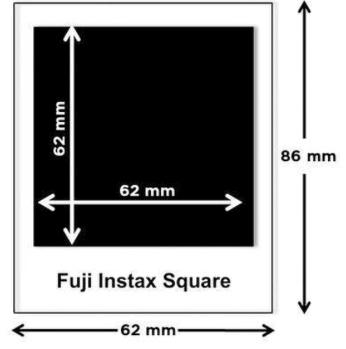 Afmetingen INstax Square